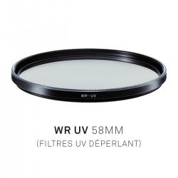 Filtre uv déperlant 58mm