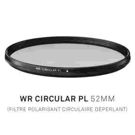 Filtre Polarisant circulaire déperlant 52mm