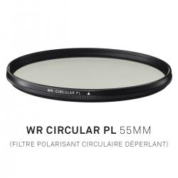 Filtre Polarisant circulaire déperlant 55mm