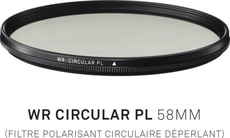 Filtre Polarisant circulaire déperlant 58mm