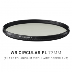 Filtre Polarisant circulaire déperlant 72mm