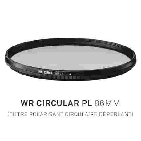 Filtre Polarisant circulaire déperlant 86mm
