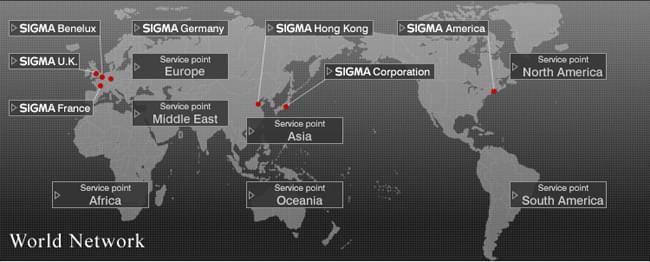 Sigma dans le monde