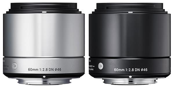 Le nouveau 60mm F2.8 DN dans ses finitions noir et argent