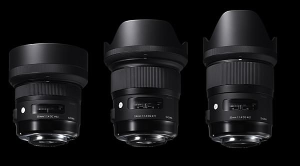 Le nouveau 24mm F1.4 DG HSM | Art face aux 30mm F1.4 DC HSM| Art et 35mm F1.4 DG HSM | Art