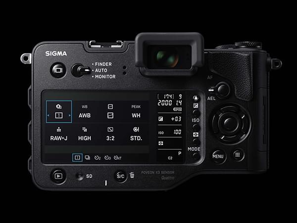 Nouveau SD1 Quattro - Vue écran LCD