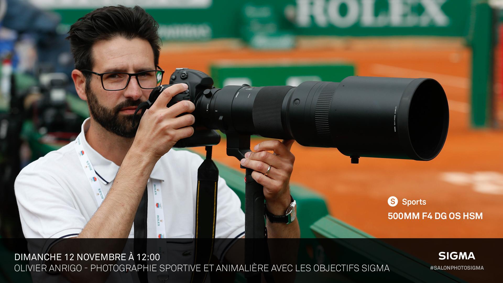 Olivier Anrigo - Photographie sportive et animalière avec les longues focales SIGMA