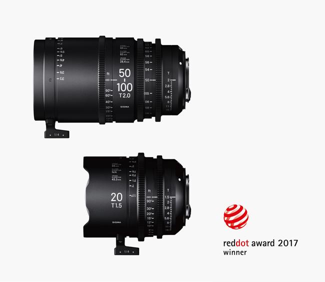 Red dot award pour la ligne SIGMA Cine Lens