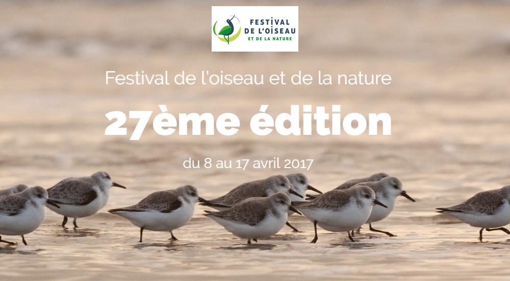 Rendez-vous pour le Festival de l'Oiseau et de la Nature du 8 au 17 Avril 2017 (Abbeville)