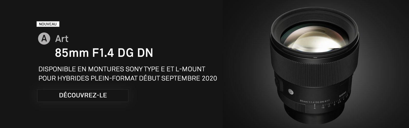 Nouveau 85mm F1.4 DG DN | Art pour hybrides plein-format