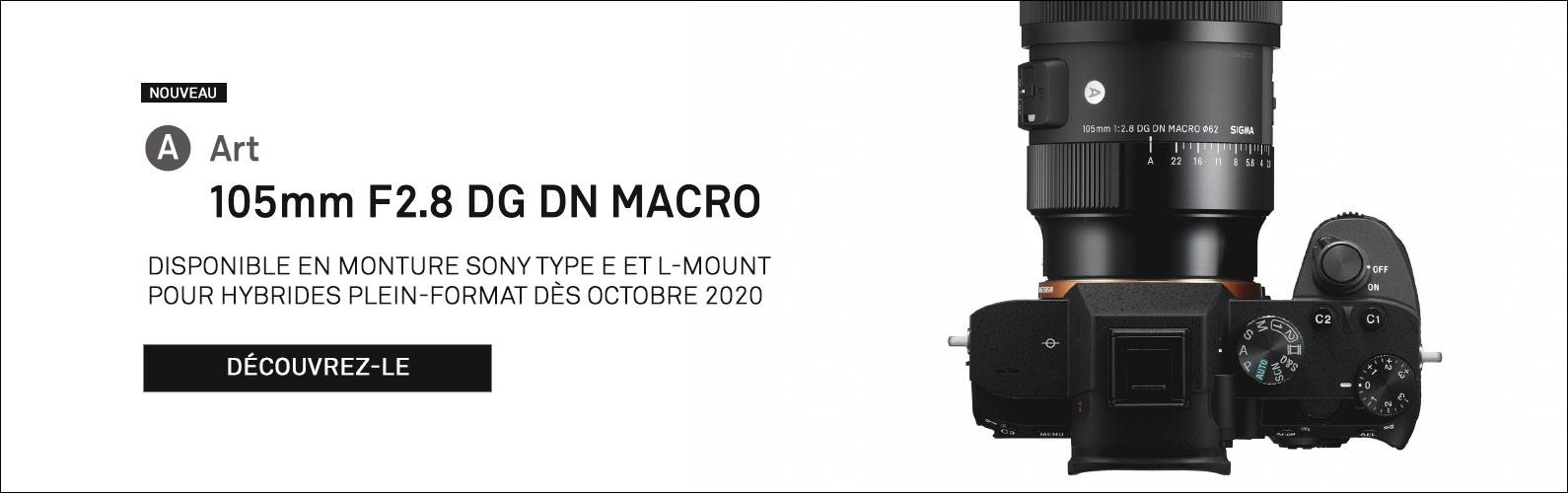 Nouveau 105mm F2.8 DG DN | Art pour hybrides plein-format Sony E et L-Mount